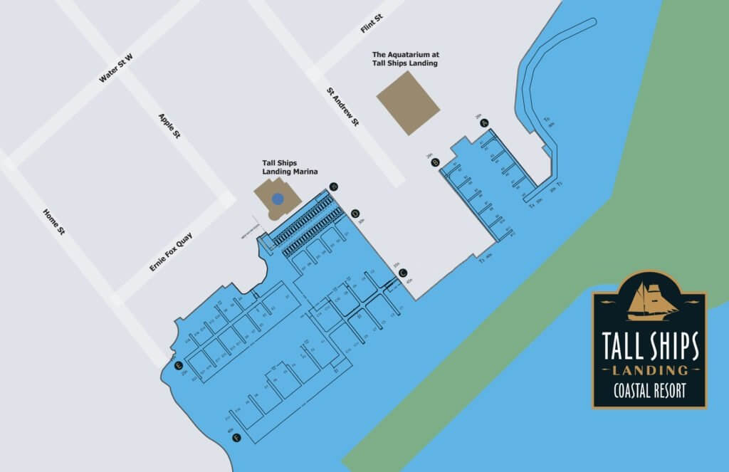 tall ships landing marina map